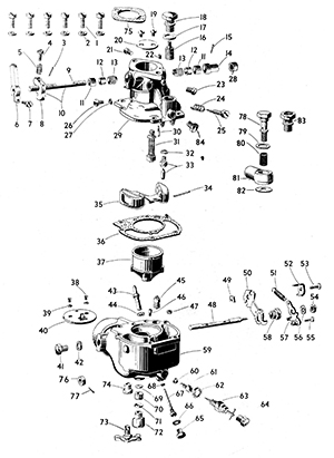 Zenith 63 Carburetor Exploded View
